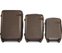 Набор чемоданов Fly 1101 3 штуки коричневый