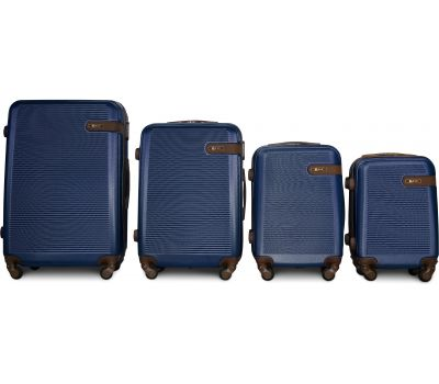 Набор чемоданов Fly 1101 4 штуки темно-синий