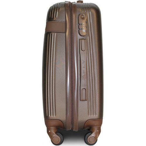 Чемодан Fly 1101 средний коричневый