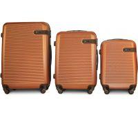 Набор чемоданов Fly 1101 3 штуки оранжевый