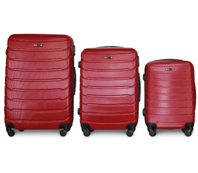 Набор чемоданов Fly 1107 3 штуки бордовый