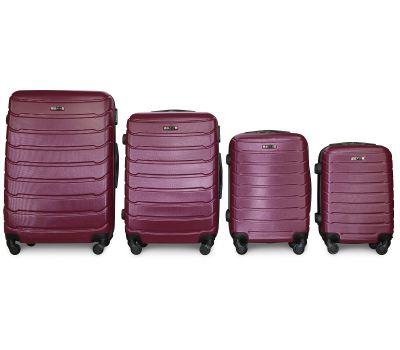 Набор чемоданов Fly 1107 4 штуки фиолетовый