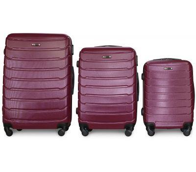 Набор чемоданов Fly 1107 3 штуки фиолетовый