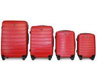 Набор чемоданов Fly 1107 4 штуки красный