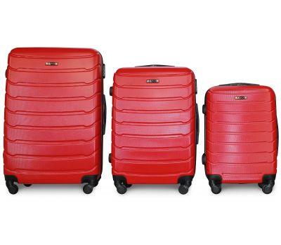 Набор чемоданов Fly 1107 3 штуки красный