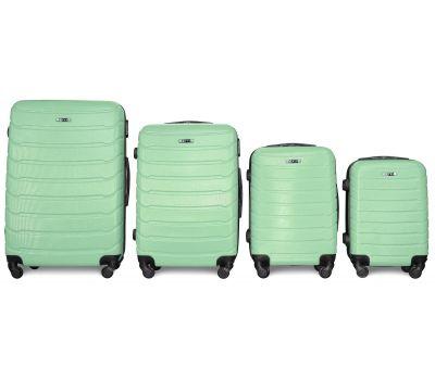 Набор чемоданов Fly 1107 4 штуки мятный