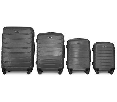 Набор чемоданов Fly 1107 4 штуки серый