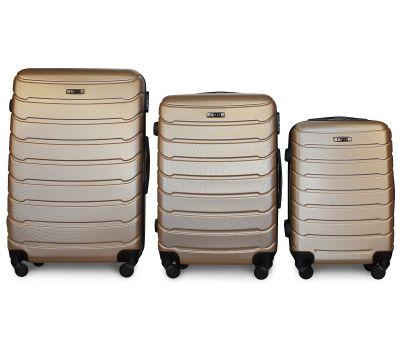 Набор чемоданов Fly 1107 3 штуки шампань