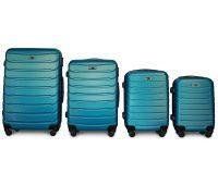 Набор чемоданов Fly 1107 4 штуки синий