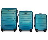 Набор чемоданов Fly 1107 3 штуки синий