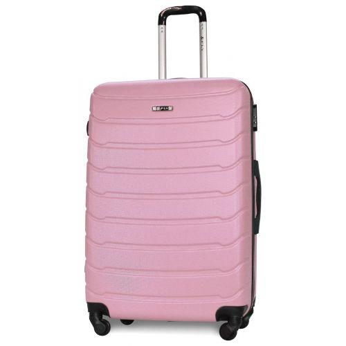 Набор чемоданов Fly 1107 3 штуки светло-розовый