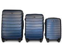 Набор чемоданов Fly 1107 3 штуки темно-синий