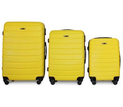 Набор чемоданов Fly 1107 3 штуки желтый