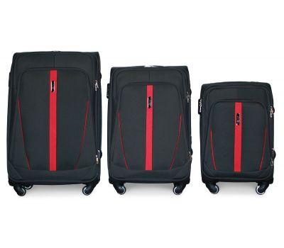 Набор чемоданов Fly 1706 на 4-х колесах 3 штуки черный
