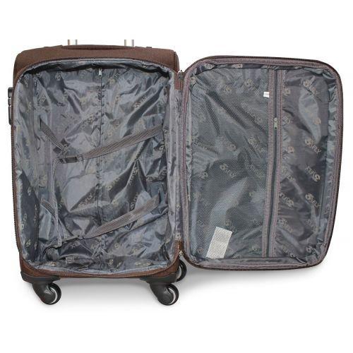 Набор тканевых чемоданов Fly 8279 на 4-х колесах 3 штуки синий