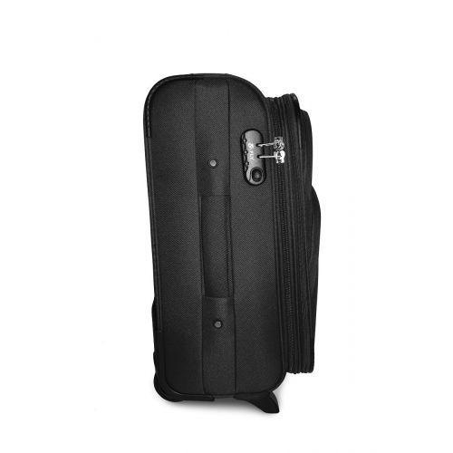 Набор чемоданов Fly 1708 3 штуки на 2-х колесах черный