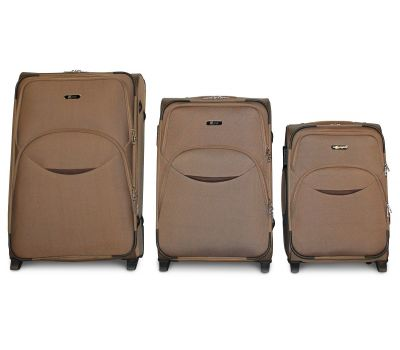 Набор чемоданов Fly 1708 3 штуки на 2-х колесах бежевый