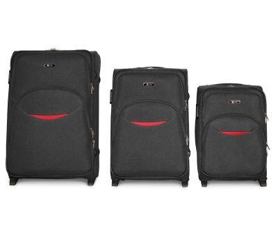 Набор чемоданов Fly 1708 3 штуки на 2-х колесах серый