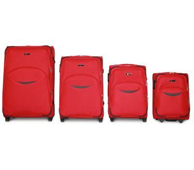 Набор чемоданов Fly 1708 4 штуки на 2-х колесах красный