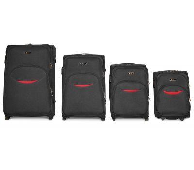 Набор чемоданов Fly 1708 4 штуки на 2-х колесах серый