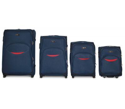 Набор чемоданов Fly 1708 4 штуки на 2-х колесах синий