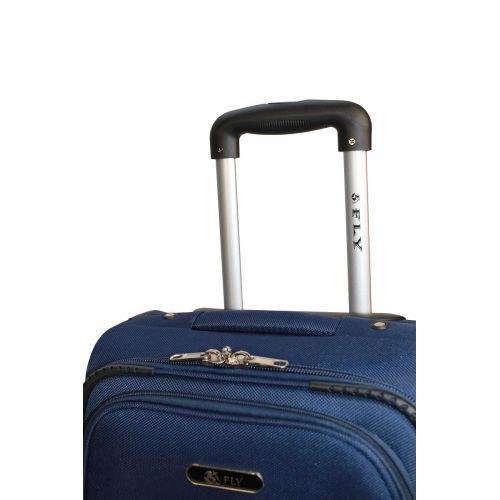 Набор чемоданов Fly 1708 3 штуки на 2-х колесах синий