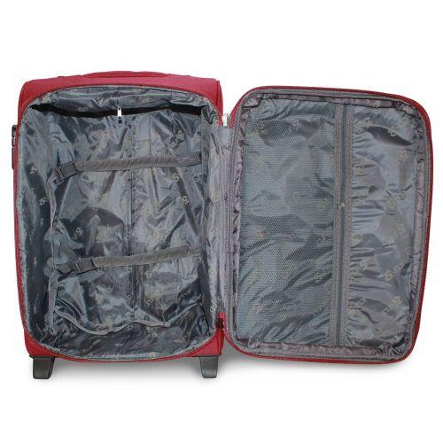 Набор чемоданов Fly 1708 4 штуки на 2-х колесах бордовый