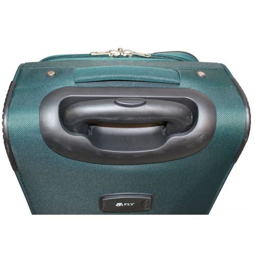 Набор чемоданов Fly 1708 4 штуки на 2-х колесах зеленый