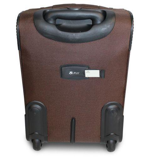Набор чемоданов Fly 1708 3 штуки на 2-х колесах коричневый