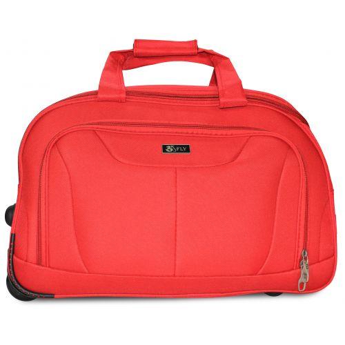 Дорожная сумка на 2 колесах Fly 2611 средняя M красная
