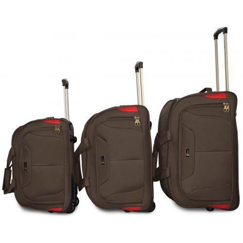 Дорожная сумка на 2 колесах Fly 2611 средняя M кофейная