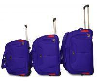 Набор дорожных сумок на 2 колесах Fly 2611 middle blue
