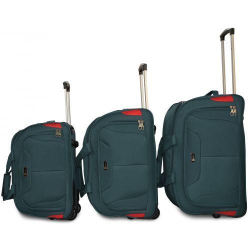 Дорожная сумка на 2 колесах Fly 2611 большая L зеленая