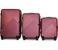 Набор чемоданов Fly 2702 3 штуки бордовый