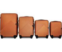 Набор чемоданов Fly 2702 4 штуки оранжевый