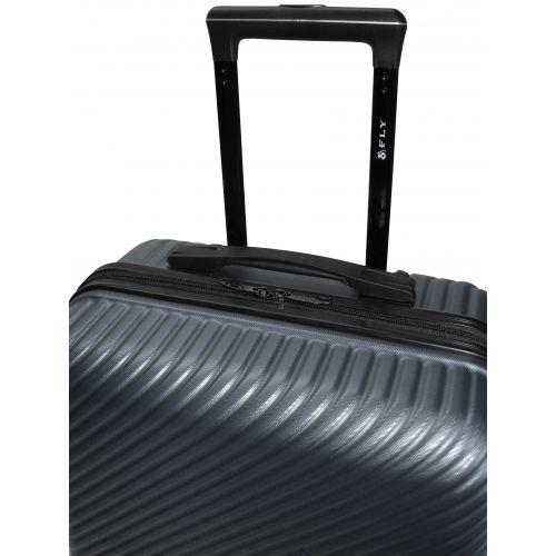 Набор чемоданов Fly 2702 3 штуки серый