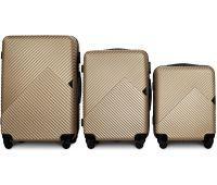 Набор чемоданов Fly 2702 3 штуки шампань