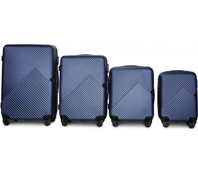 Набор чемоданов Fly 2702 4 штуки темно-синий