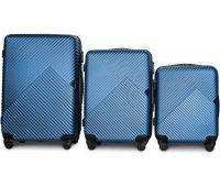 Набор чемоданов Fly 2702 3 штуки синий