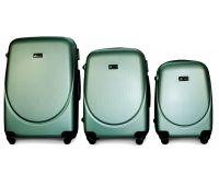 Набор чемоданов Fly 310 3 штуки аквамарин