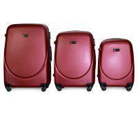 Набор чемоданов Fly 310 3 штуки бордовый