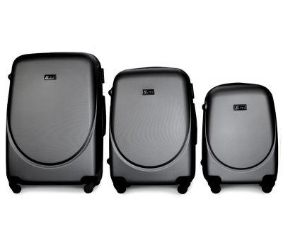 Набор чемоданов Fly 310 3 штуки серый