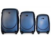 Набор чемоданов Fly 310 3 штуки темно-синий