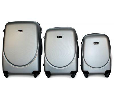 Набор чемоданов Fly 310 3 штуки серебряный