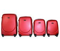 Набор чемоданов Fly 310 4 штуки красный