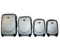 Набор чемоданов Fly 310 4 штуки серебряный