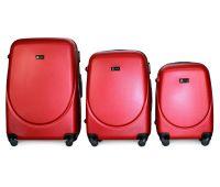 Набор чемоданов Fly 310 3 штуки красный