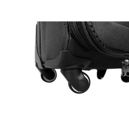 Набор чемоданов Fly 6802 на 4-х колесах 4 штуки серый