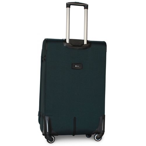 Набор чемоданов Fly 6802 на 4-х колесах 3 штуки зеленый