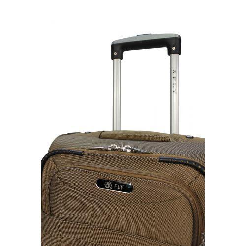 Набор чемоданов Fly 6802 на 4-х колесах 3 штуки бежевый